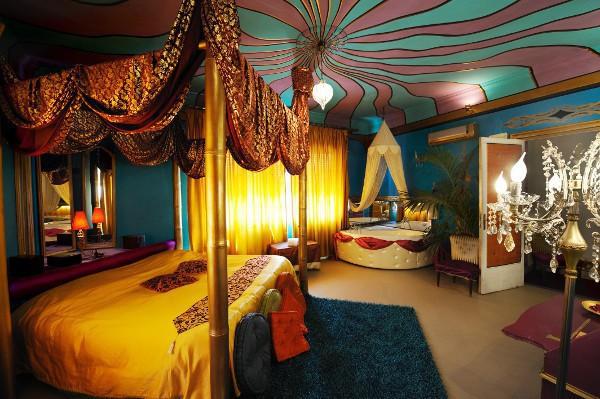 Una de las suites del Gran Sultanato de Abali, uno de los hoteles más curiosos de Palermo
