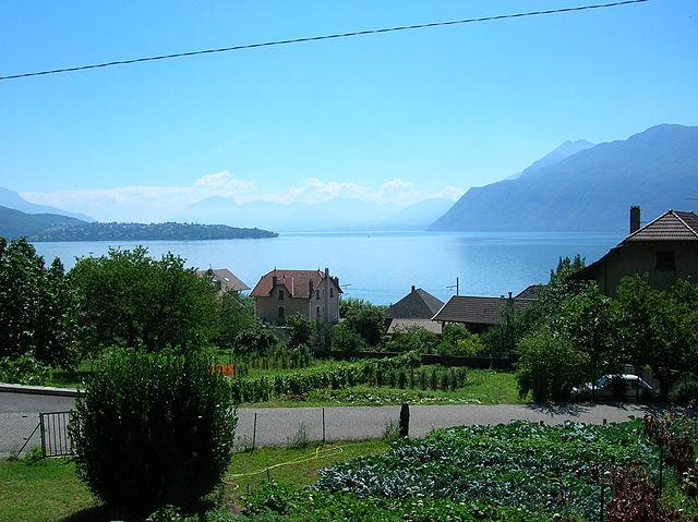 Lago Bourget en Francia