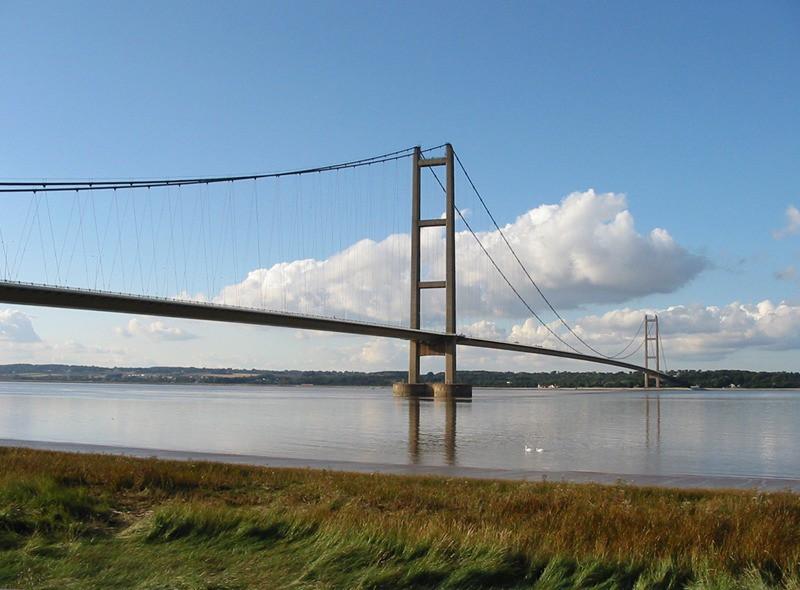 Puente del Humber en Inglaterra