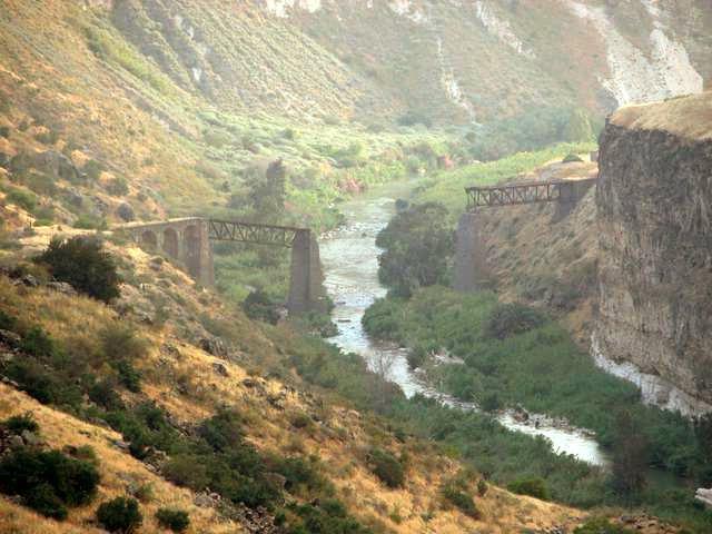 Río Yarmuk en Israel