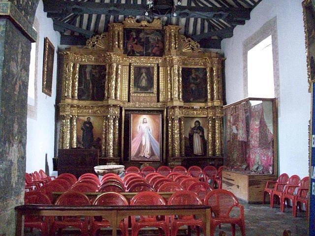 La iglesia de Santa Bárbara en Tunja
