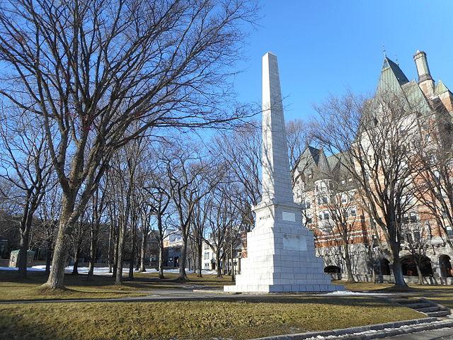 Monumento a Wolfe-Montcalm en Quebec