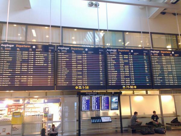 El aeropuerto de Arlanda es el principal de Estocolmo