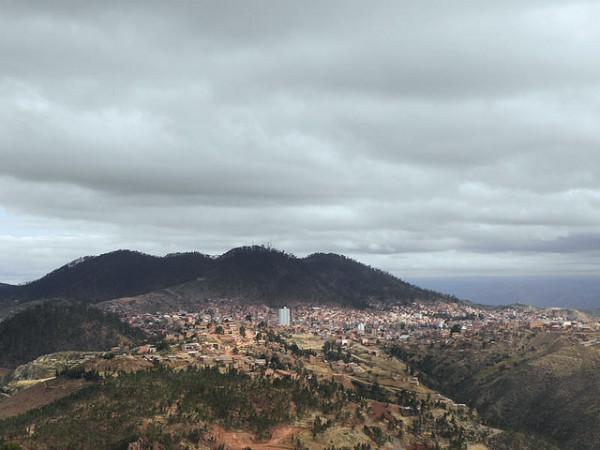 Vista panorámica de Sucre, una de las ciudades más antiguas de Bolivia