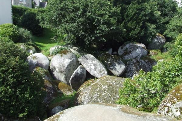 Las rocas que se pueden ver en el río Argent