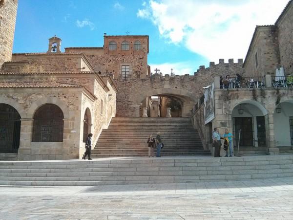 La Ciudad Vieja de Cáceres, vista desde la Plaza Mayor