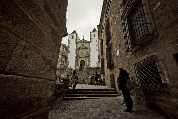 La Ciudad Vieja de Cáceres está llena de iglesias y casas palaciegas
