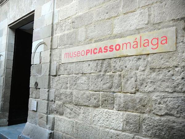 Entrada principal al Museo Picasso de Málaga