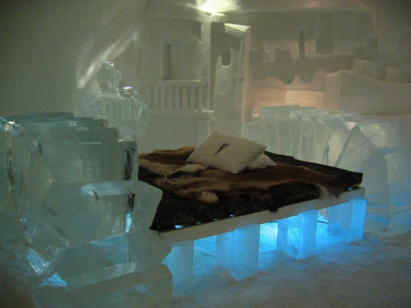 El primer hotel de hielo se hizo en Suecia