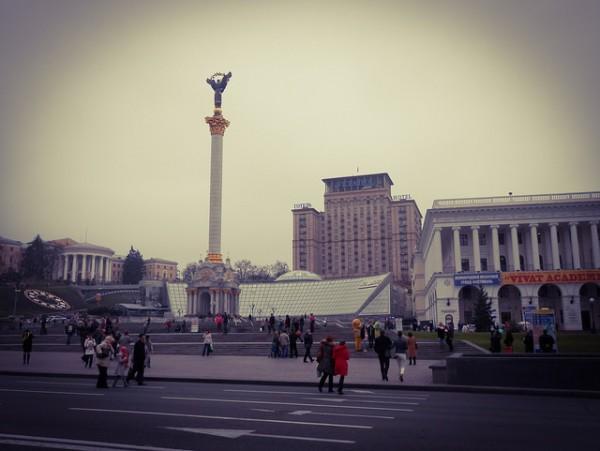 La Plaza de la Independencia, corazón de Kiev y Ucrania