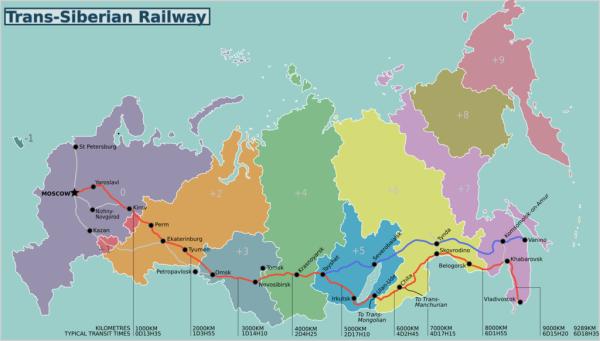 La ruta principal del transiberiano une Moscú y Vladivostock