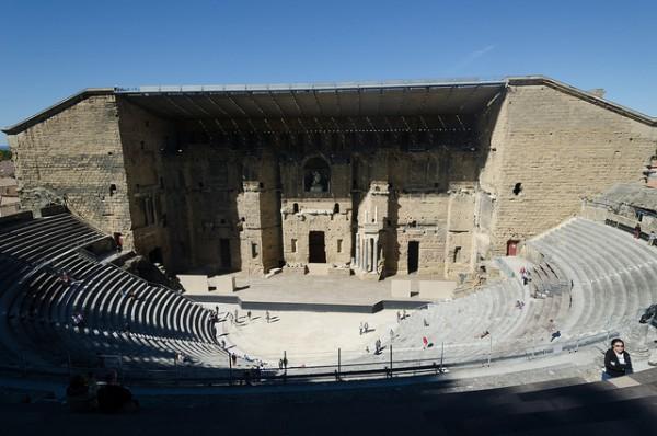 El Teatro Romano de Orange es una construcción sencillamente espectacular