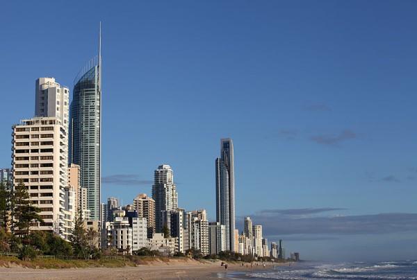 La Torre Q1 se destaca en el skyline de Gold Coast