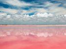 Una sorprendente laguna rosa