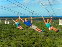Sobrevolar la selva de la Riviera Maya con tirolinas