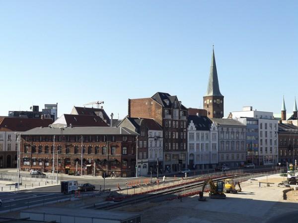 Vista de las calles más céntricas de Aarhus, en Dinamarca