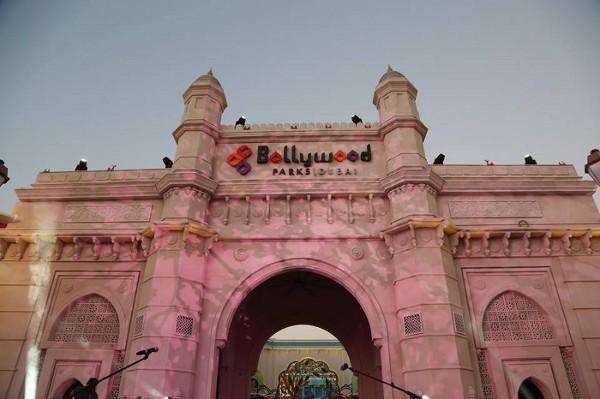 La entrada a Bollywood Park, un nuevo parque temático en Dubai