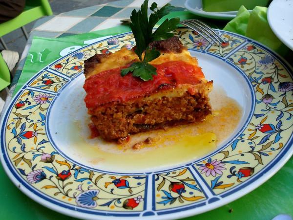 La musaca es un plato típico de la gastronomía griega