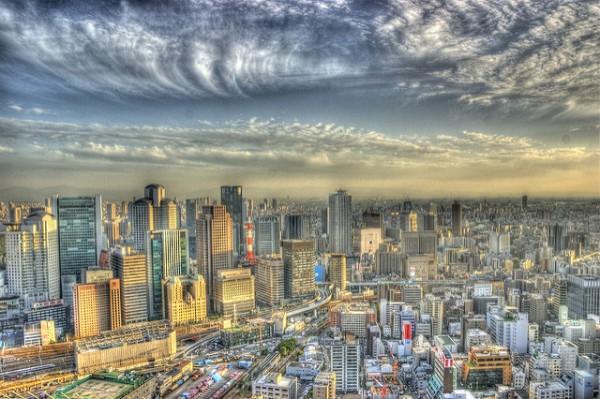 Vista de Osaka, una de las ciudades más grandes de Japón