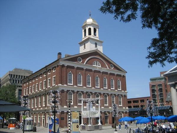 Faneuil Hall, uno de los lugares más turísticos de Boston