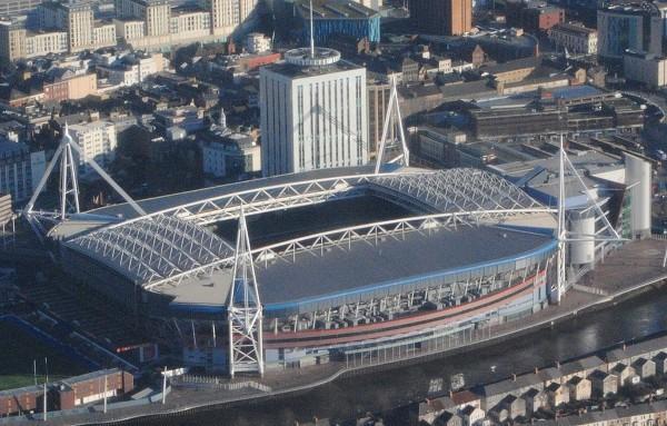 Vista aérea del Millenium Stadium