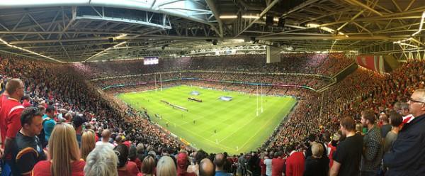 Partido de rugby en el Millenium Stadium