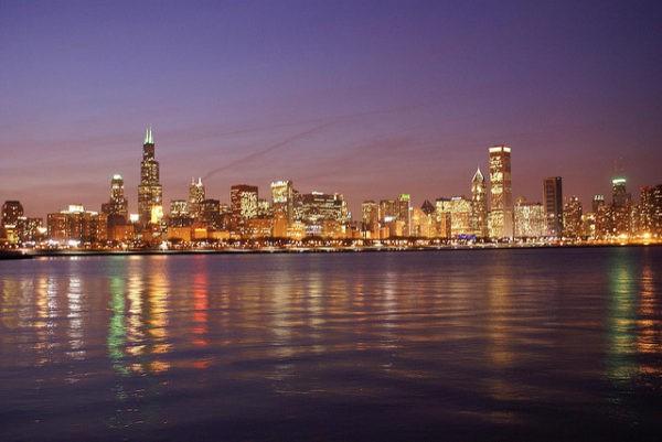 Skyline de Chicago con sus altos rascacielos