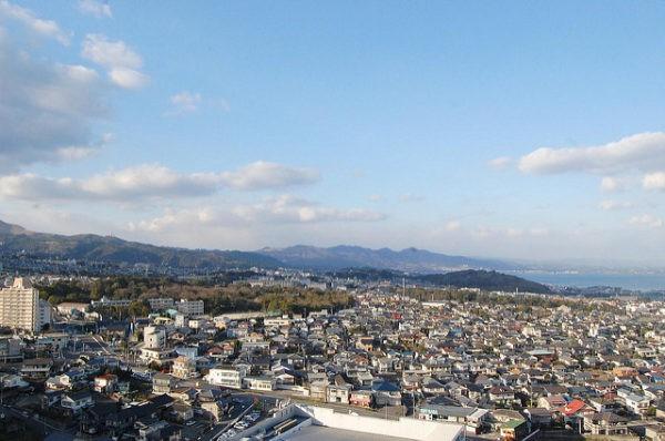 Vistas de Beppu, ciudad japonesa famosa por sus balnearios