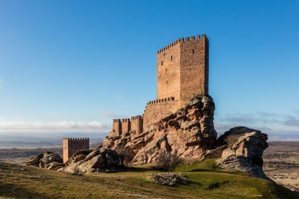 El Castillo de Zafra, en un pueblo de la provincia de Guadalajara