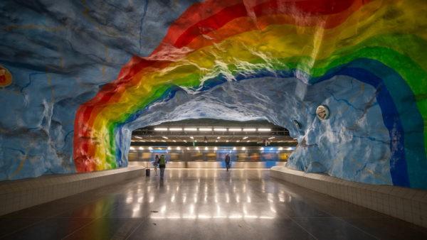 Arte en el metro de Estocolmo