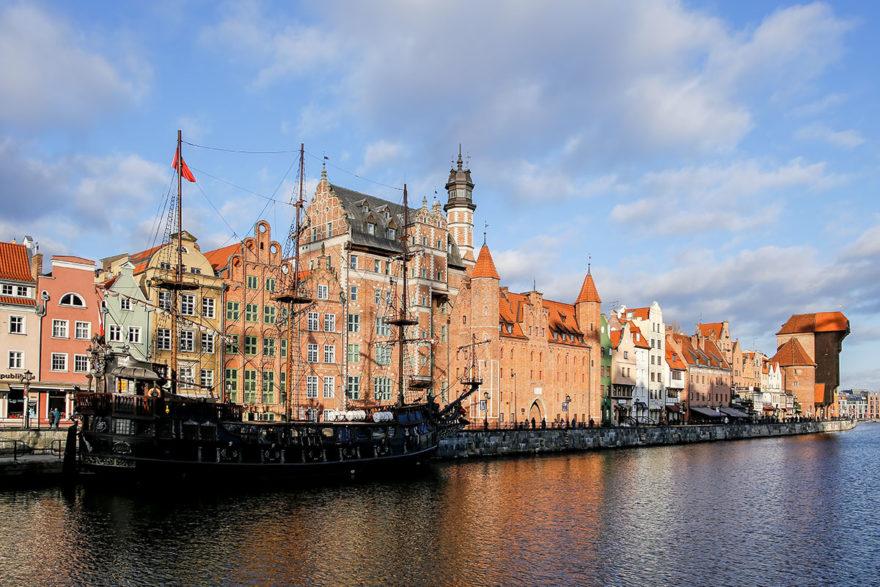 El muelles es una de las estampas más bonitas de Gdansk