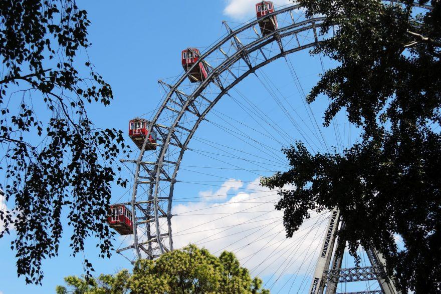 Noria de Viena en el parque Prater