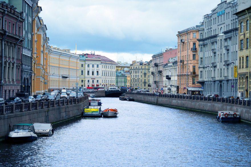 Crucero Barco Canales San Petersburgo