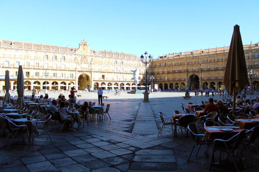 Vista de la Plaza Mayor de Salamanca