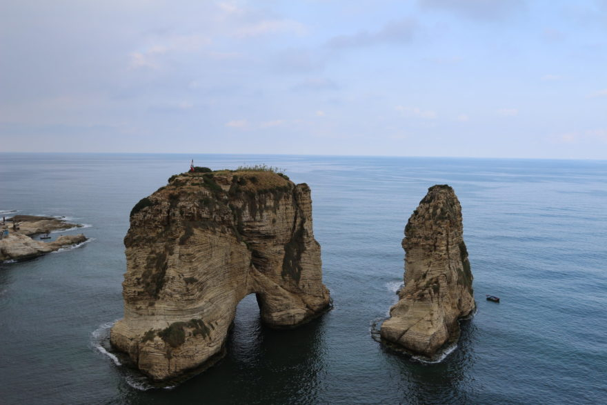 Las Rocas de Raouche, uno de los lugares más famosos de Beirut