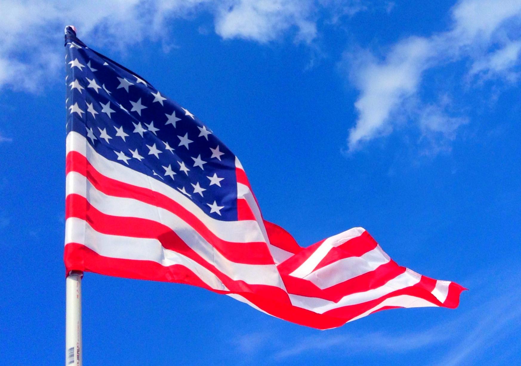 La Bandera de los Estados Unidos es el símbolo del país