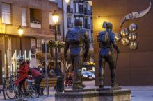 El río Ebro y las principales ciudades que recorre: Logroño