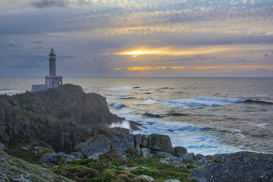 Los atardeceres en Punta Nariga son de lo mejor de Galicia