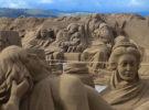 El belén de arena de la playa de las Canteras, este año también en formato virtual