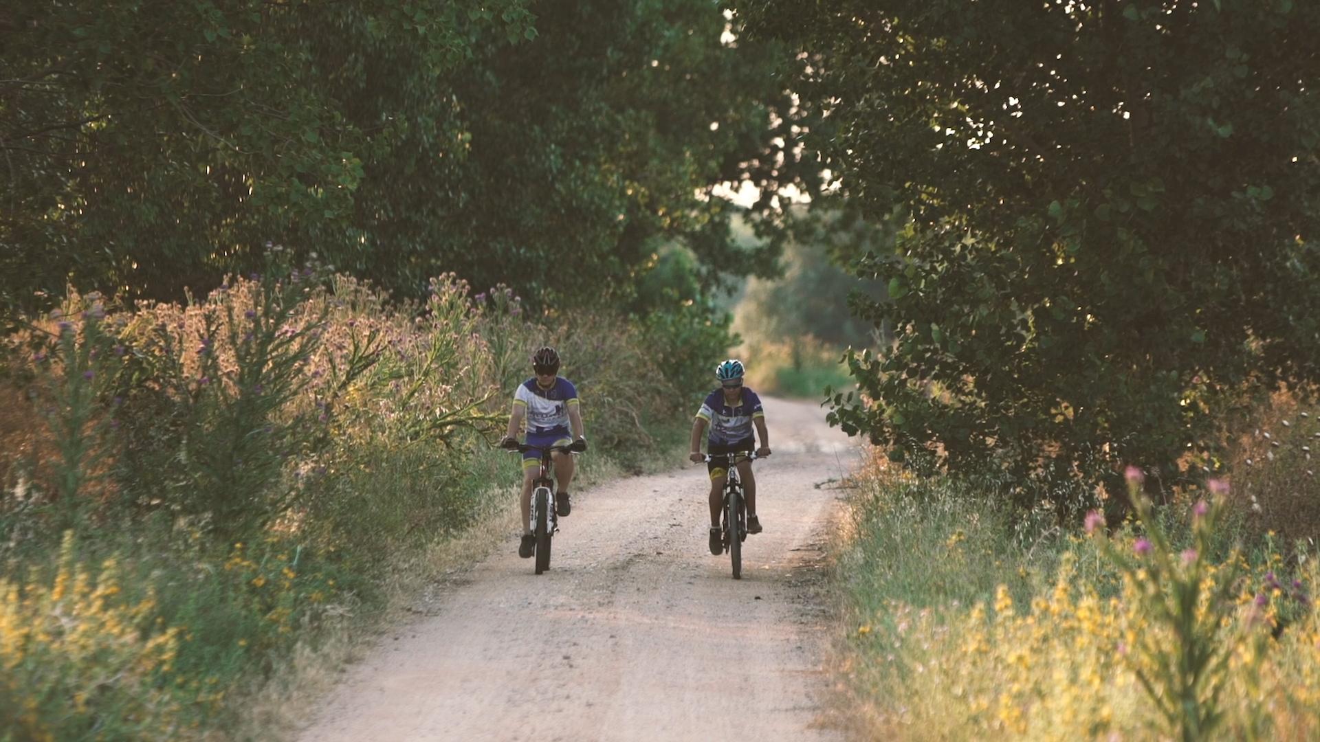 ruta senderismo y cicloturismo Rueda