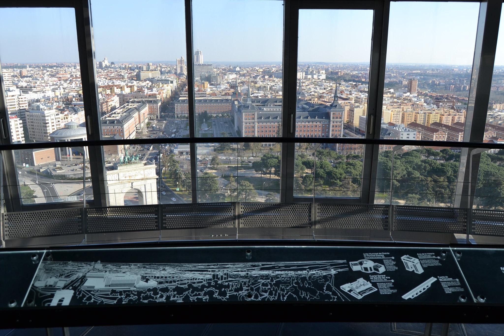 Vistas Faro Moncloa Madrid