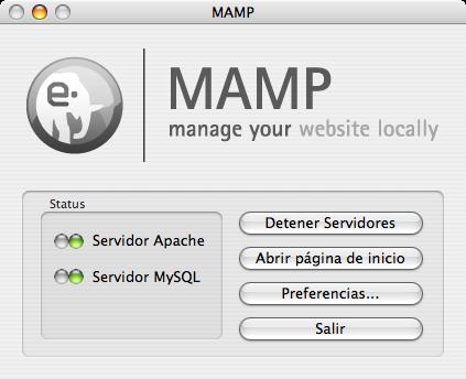 MAMP instala MySQL y PHP de un tirón