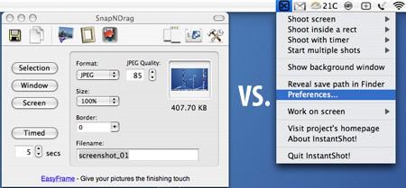 SnapNDrag vs InstantShot!