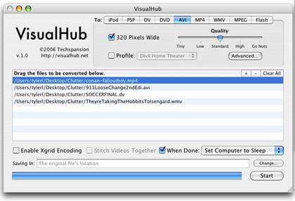 VisualHub 1.23, el conversor universal
