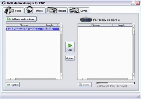 Gestor de archivos para PSP