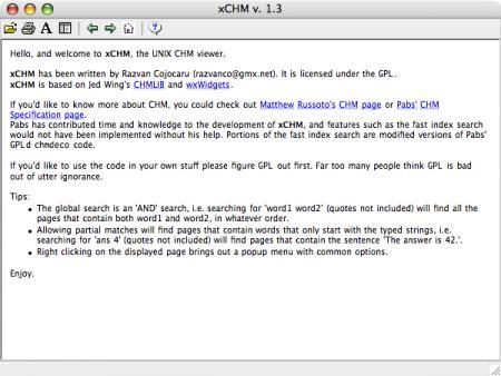 Visor para ficheros chm en Mac y Linux
