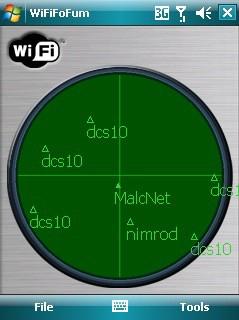 WifiFofum, a escanear Wifi`s