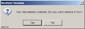 Restaura sesiones de Internet Explorer