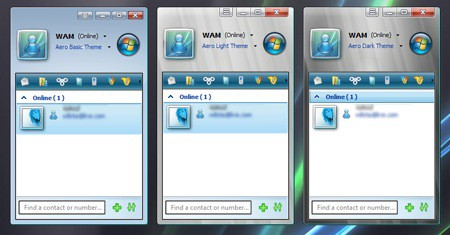 Messenger Live al estilo Vista