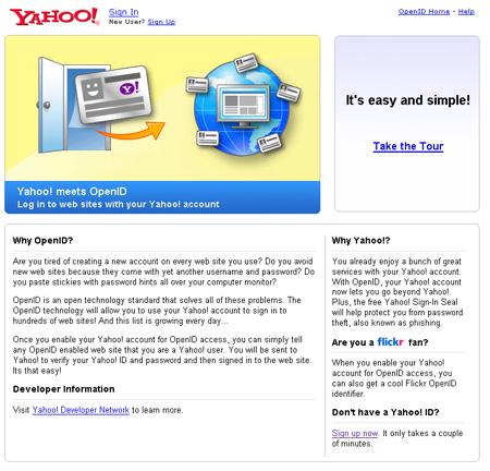 Yahoo! anuncia soporte de OpenID